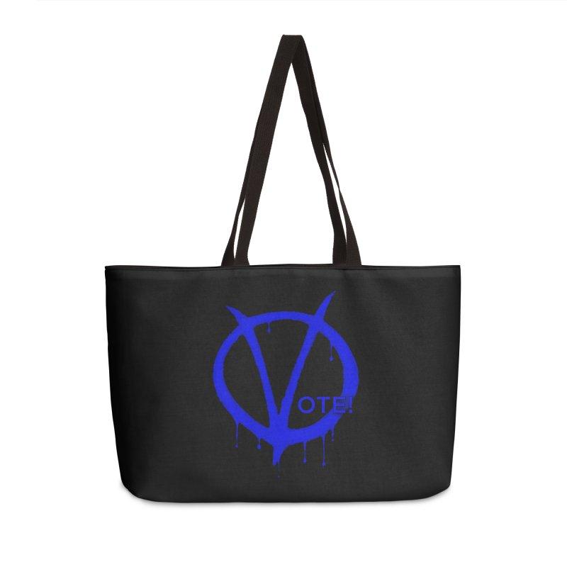 Vote Blue Accessories Weekender Bag Bag by Resistance Merch