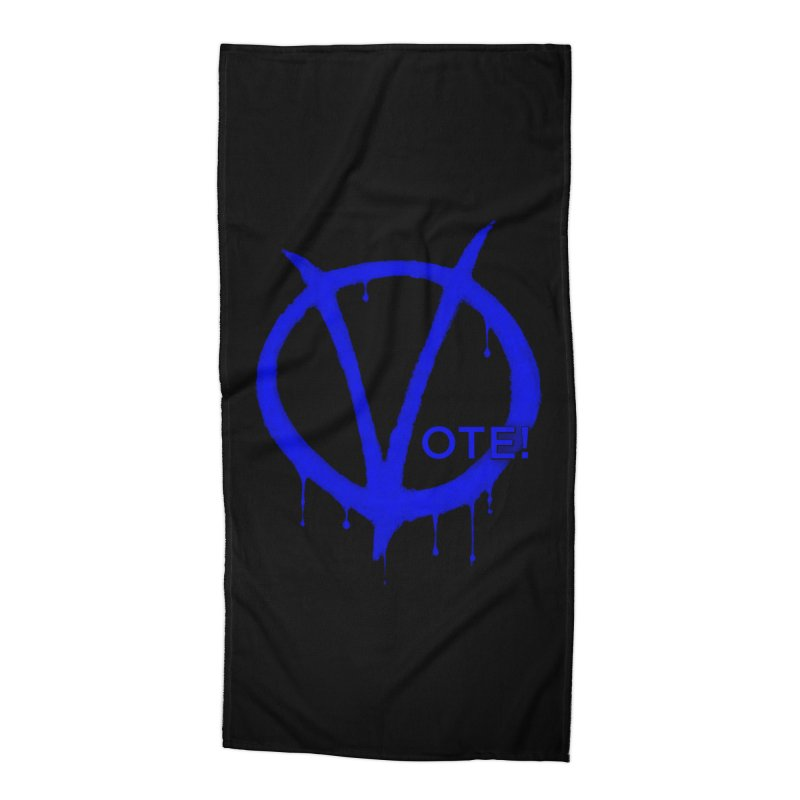Vote Blue Accessories Beach Towel by Resistance Merch