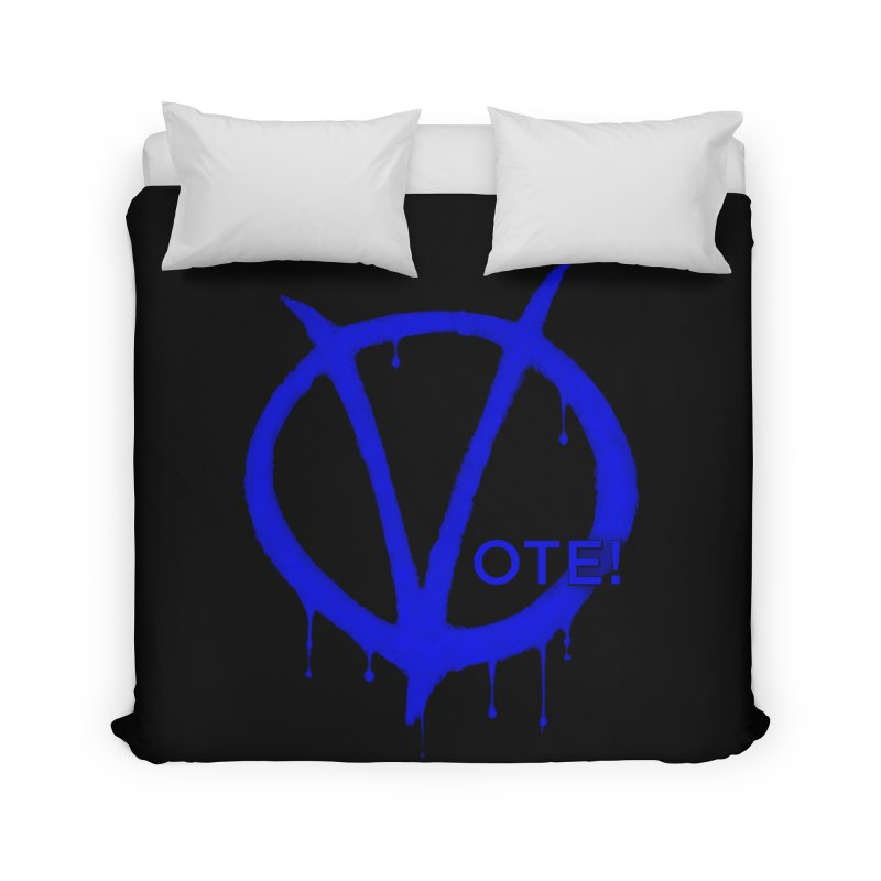 Vote Blue Home Duvet by Resistance Merch