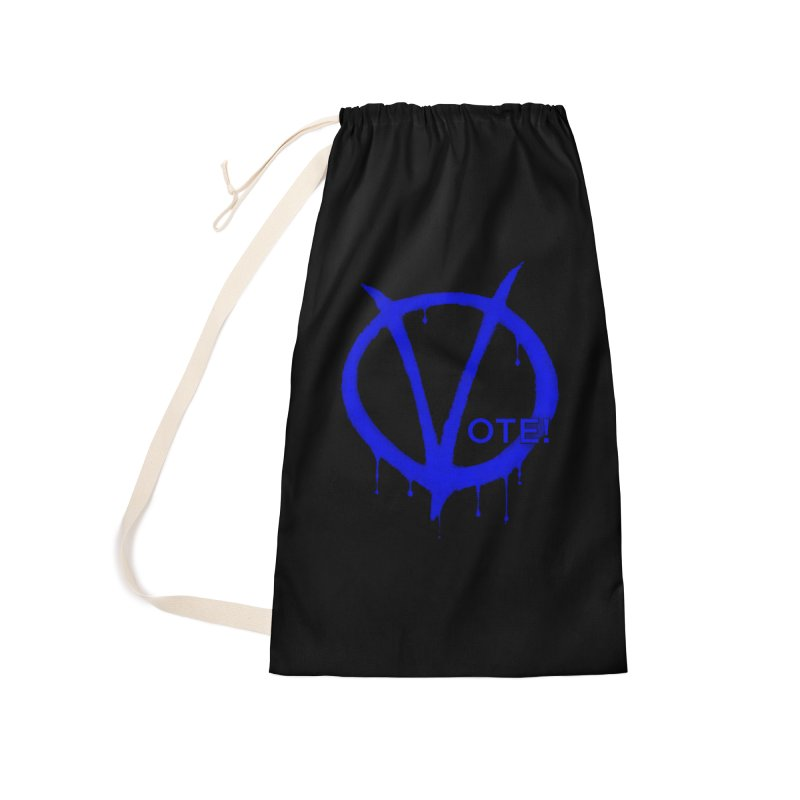 Vote Blue Accessories Laundry Bag Bag by Resistance Merch