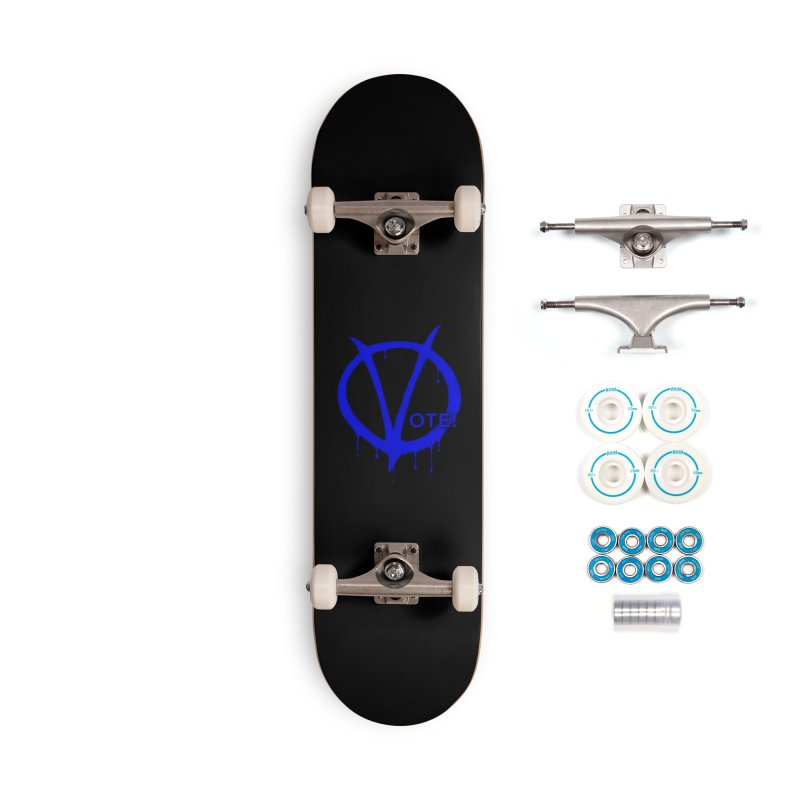 Vote Blue Accessories Complete - Basic Skateboard by Resistance Merch