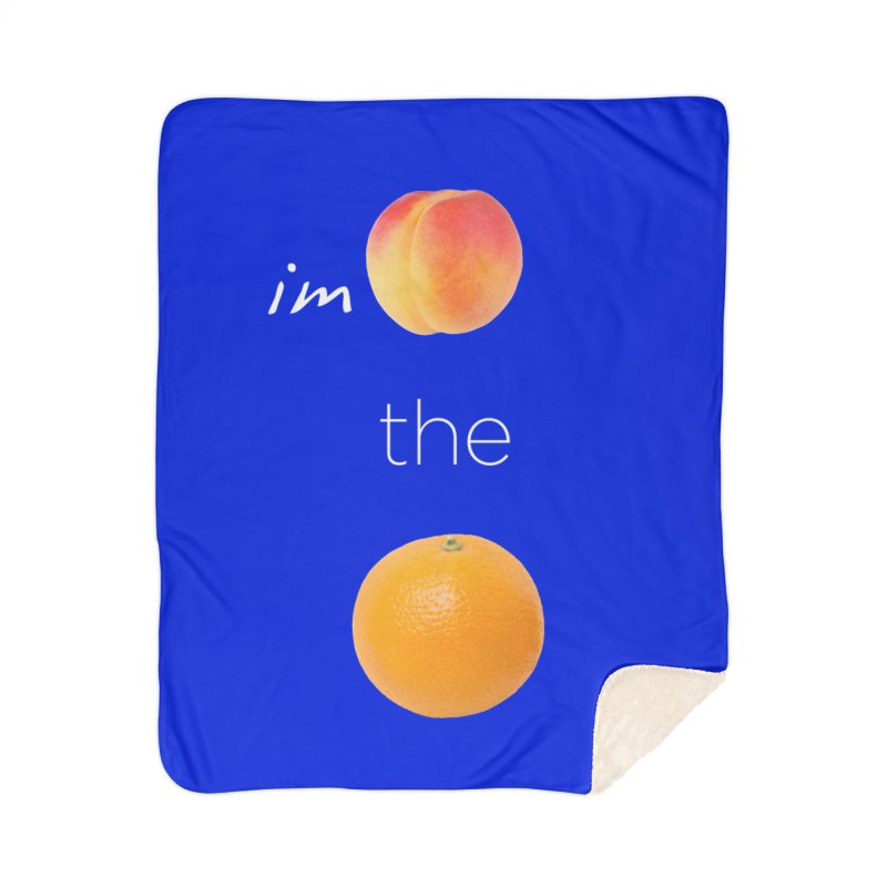 Impeach the Orange Home Sherpa Blanket Blanket by Resistance Merch