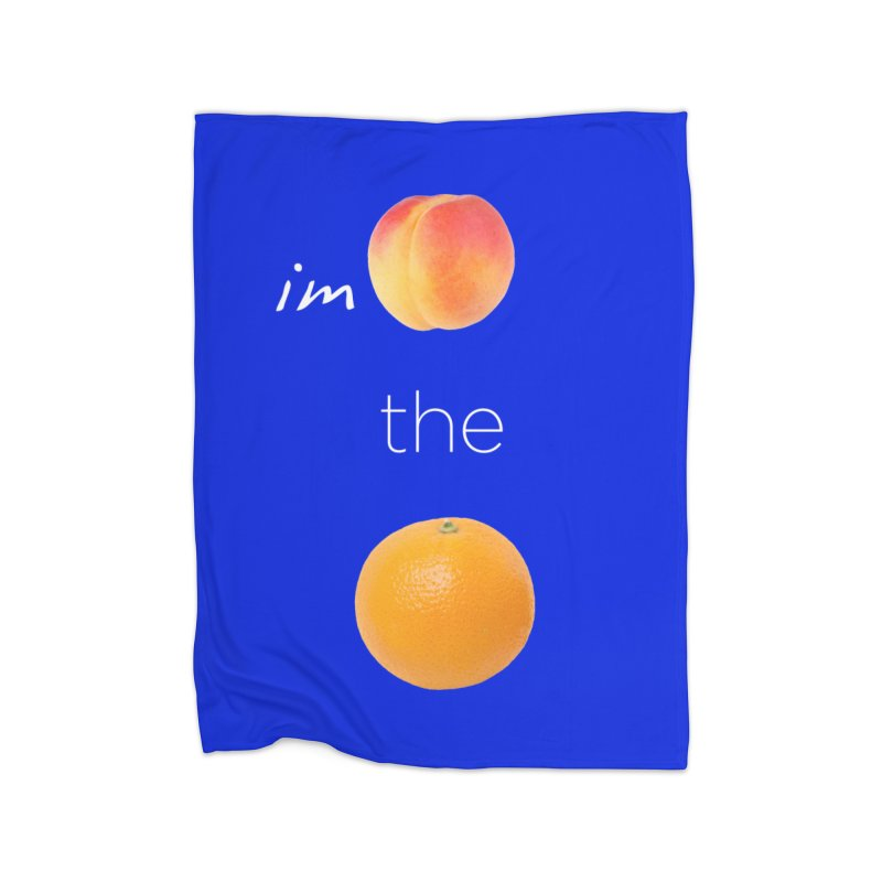 Impeach the Orange Home Fleece Blanket Blanket by Resistance Merch