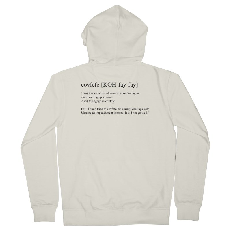 Covfefe! Men's French Terry Zip-Up Hoody by Resistance Merch