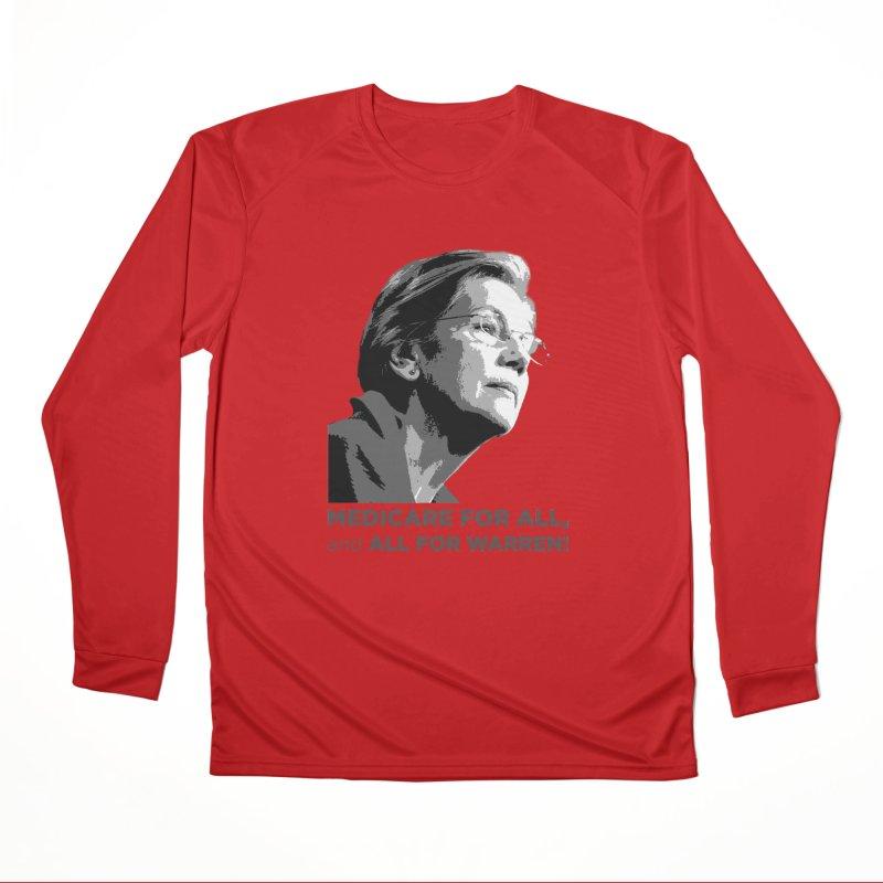 All for Warren Women's Performance Unisex Longsleeve T-Shirt by Resistance Merch