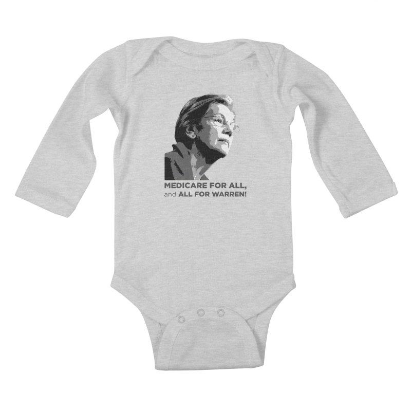All for Warren Kids Baby Longsleeve Bodysuit by Resistance Merch