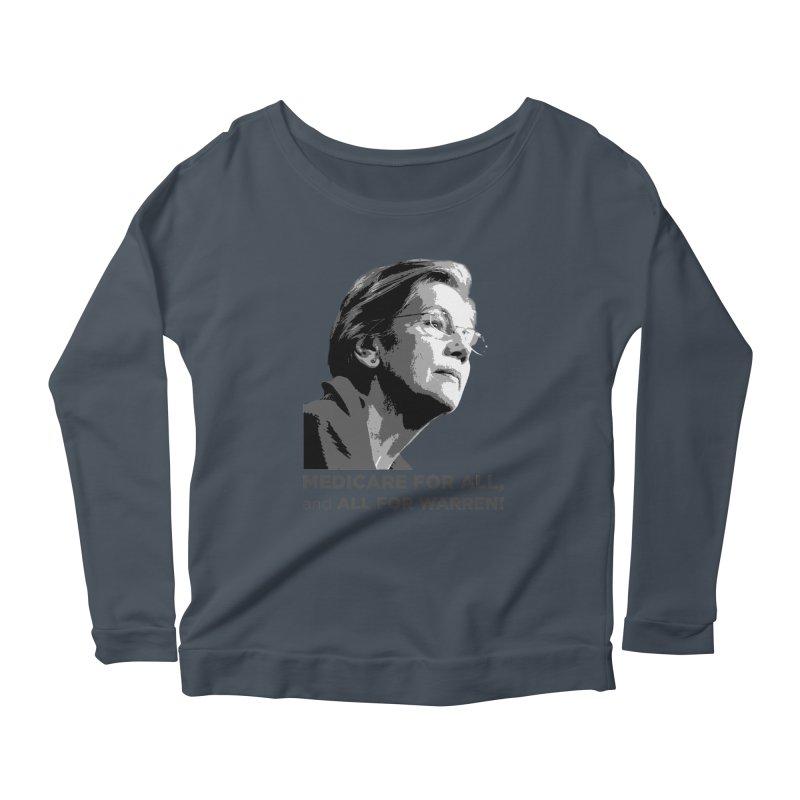 All for Warren Women's Scoop Neck Longsleeve T-Shirt by Resistance Merch