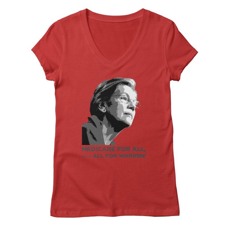All for Warren Women's Regular V-Neck by Resistance Merch