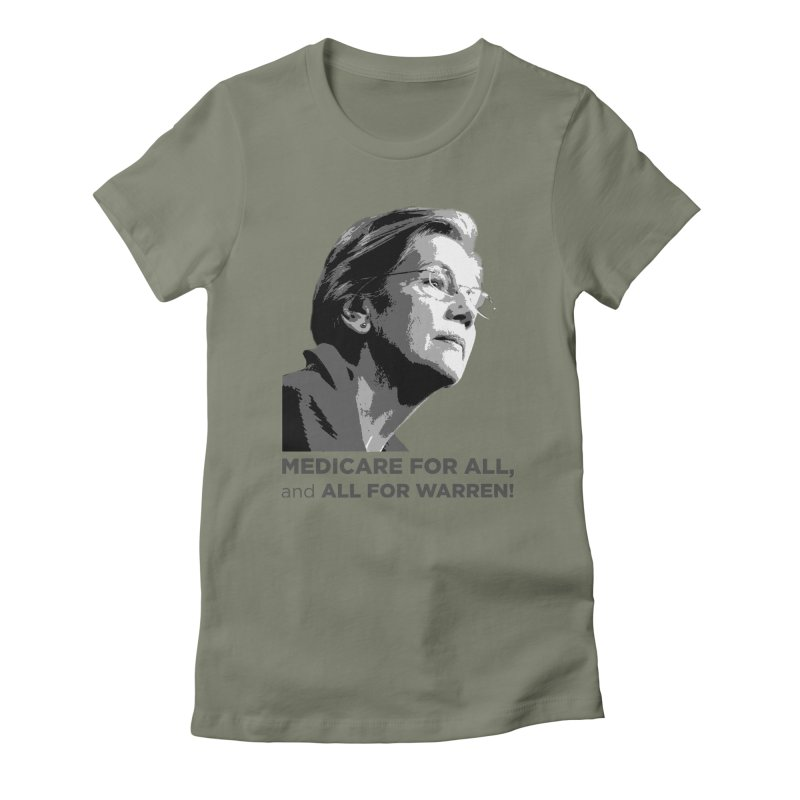 All for Warren Women's Fitted T-Shirt by Resistance Merch