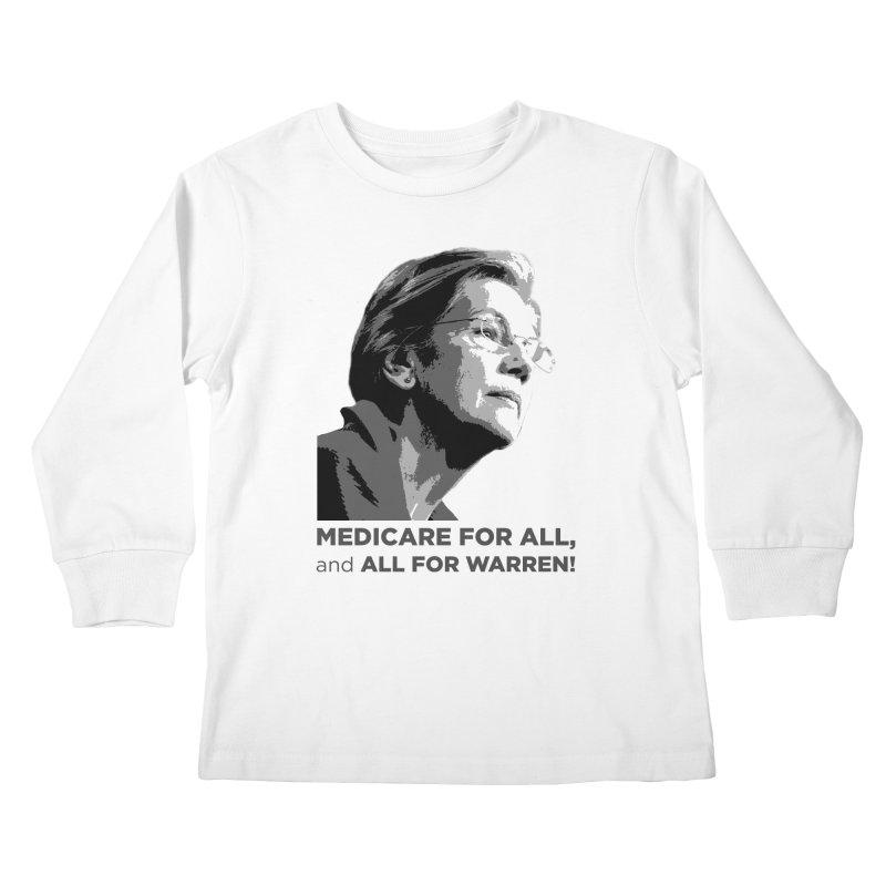 All for Warren Kids Longsleeve T-Shirt by Resistance Merch
