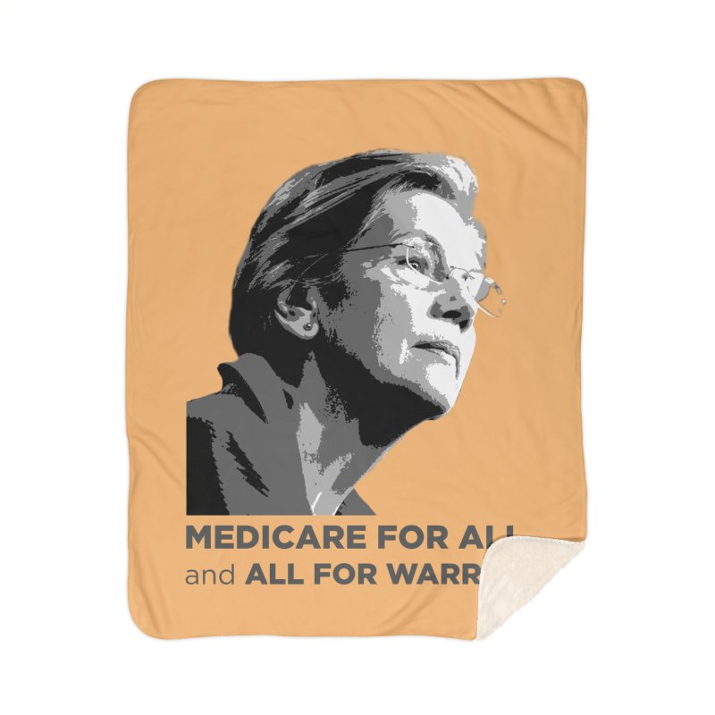 All for Warren Home Sherpa Blanket Blanket by Resistance Merch