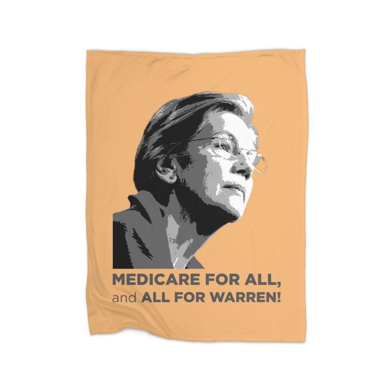 All for Warren Home Fleece Blanket Blanket by Resistance Merch