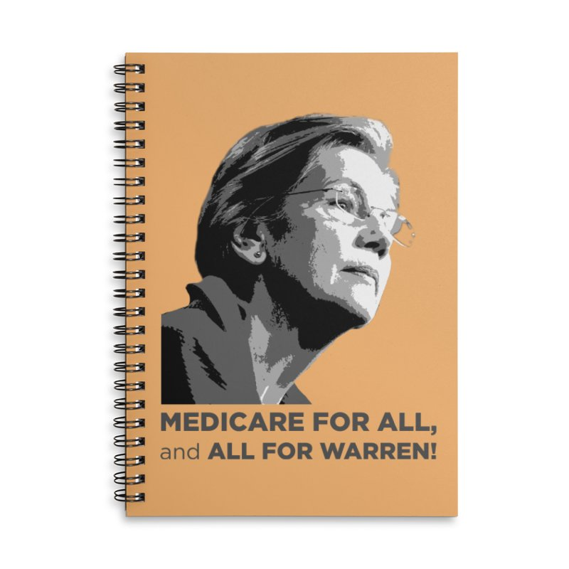 All for Warren Accessories Lined Spiral Notebook by Resistance Merch