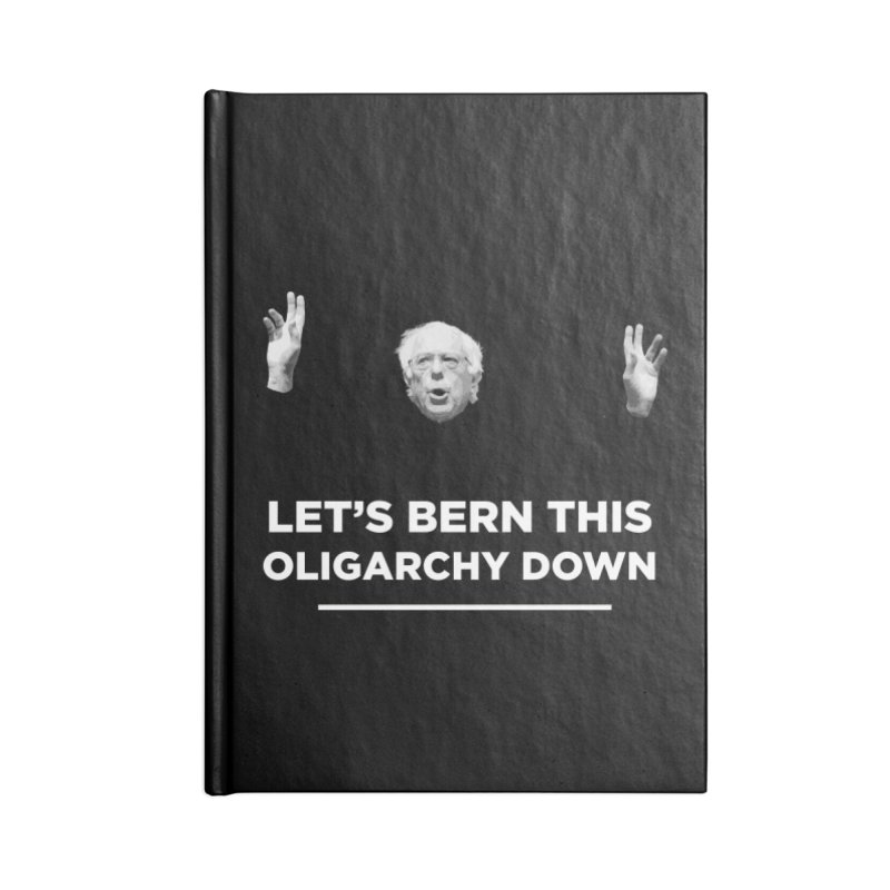 The Bern is Back Accessories Blank Journal Notebook by Resistance Merch