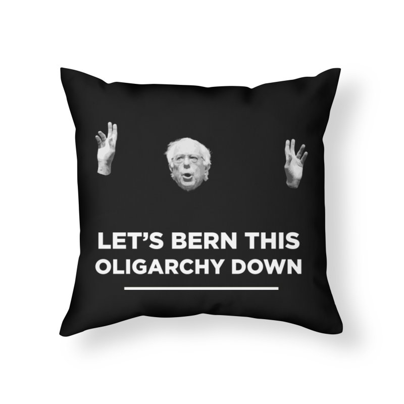 The Bern is Back Home Throw Pillow by Resistance Merch