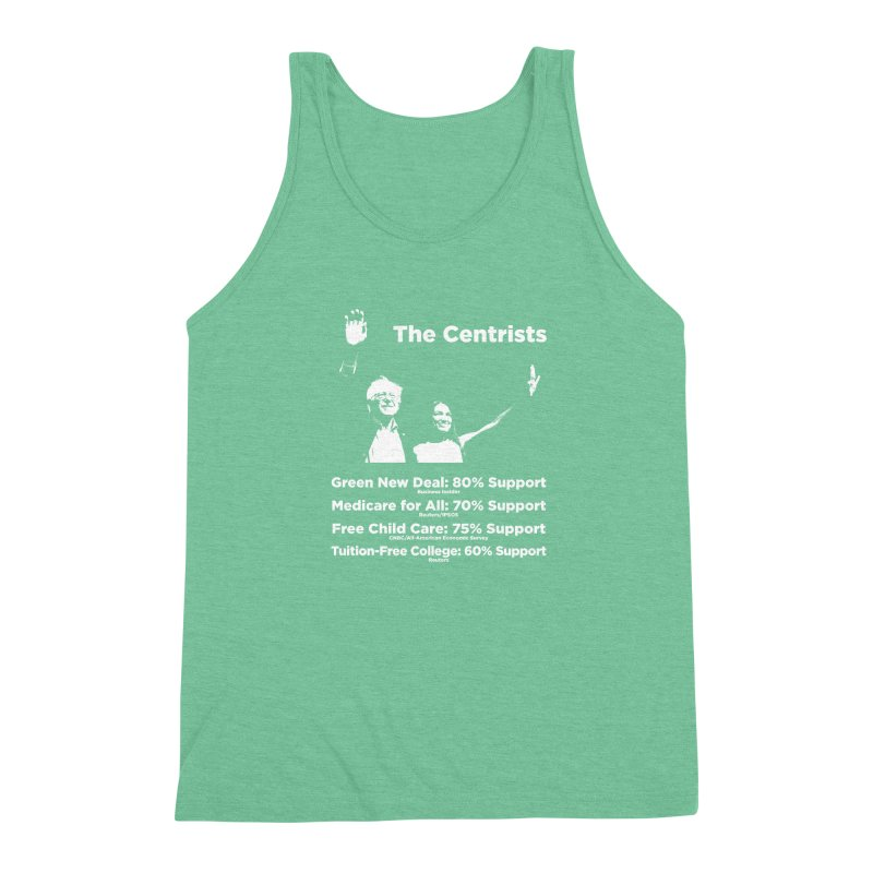 The Centrists Men's Triblend Tank by Resistance Merch