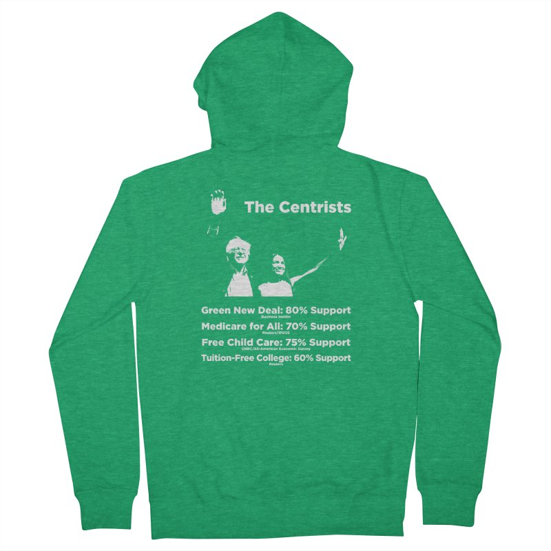 The Centrists Men's Zip-Up Hoody by Resistance Merch