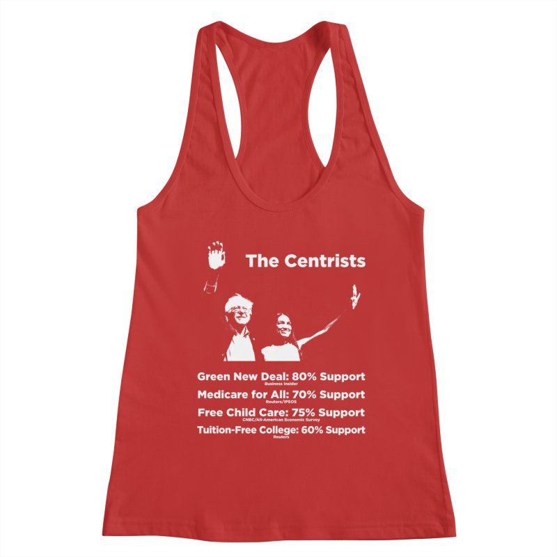 The Centrists Women's Racerback Tank by Resistance Merch