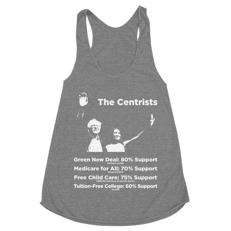 The Centrists Women's Racerback Triblend Tank by Resistance Merch