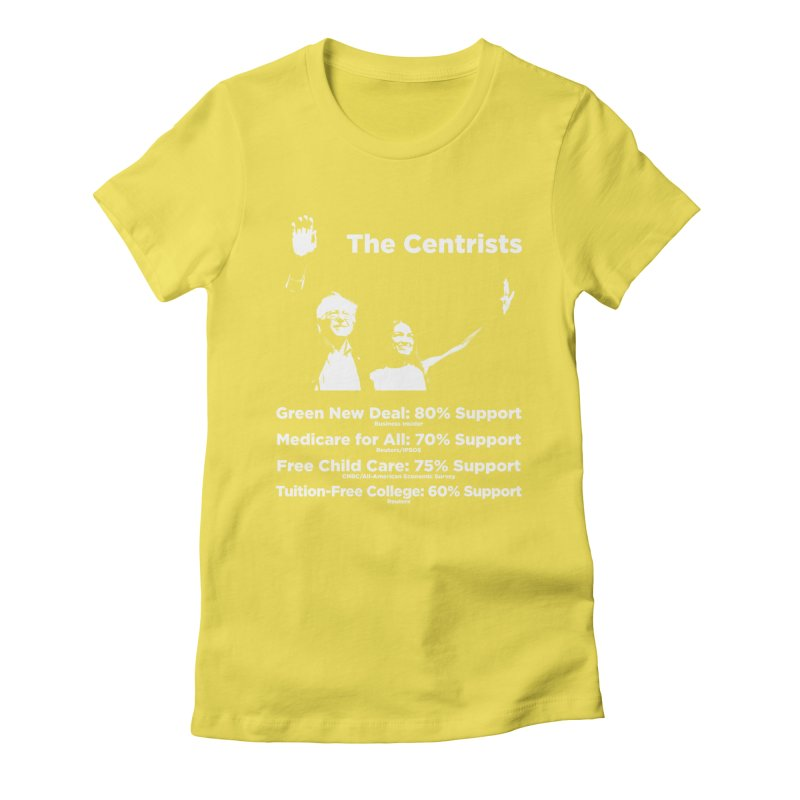 The Centrists Women's Fitted T-Shirt by Resistance Merch