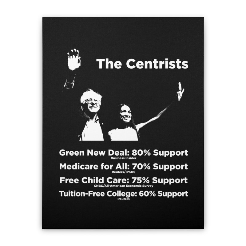 The Centrists Home Stretched Canvas by Resistance Merch