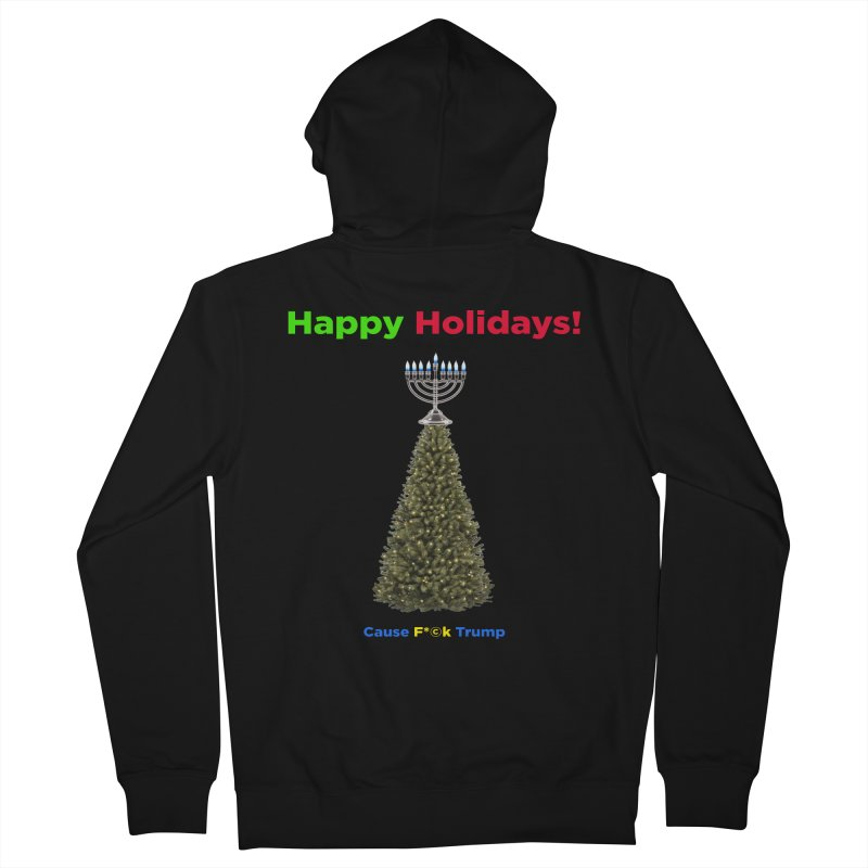 Happy Holidays! Women's French Terry Zip-Up Hoody by Resistance Merch