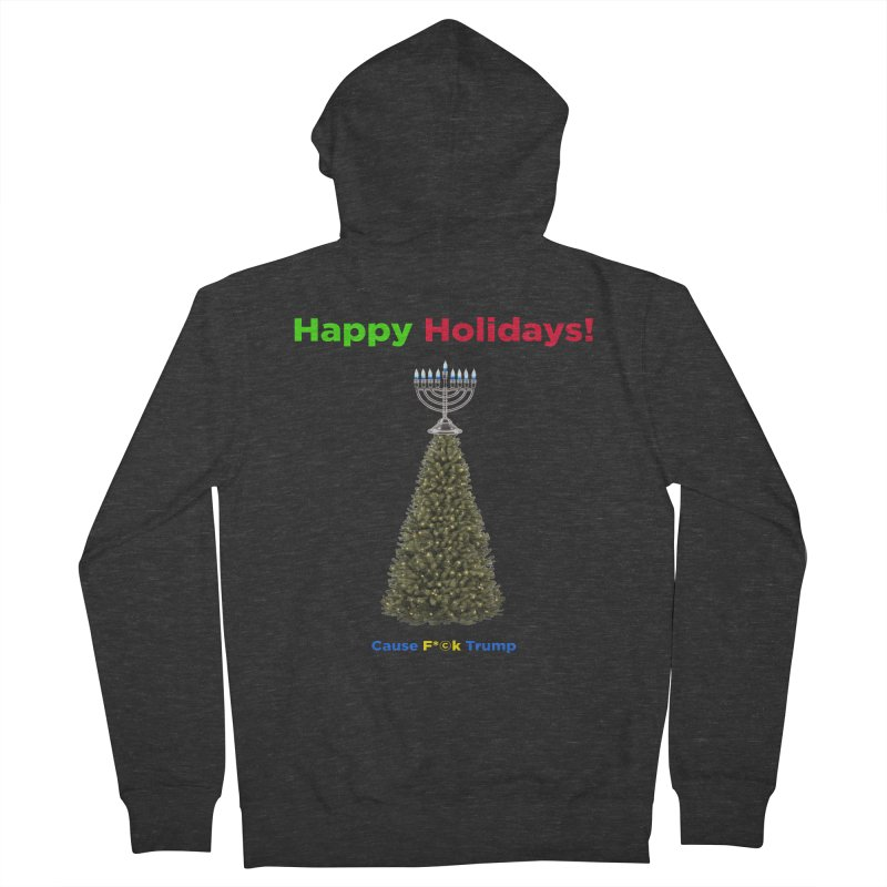 Happy Holidays! Men's French Terry Zip-Up Hoody by Resistance Merch