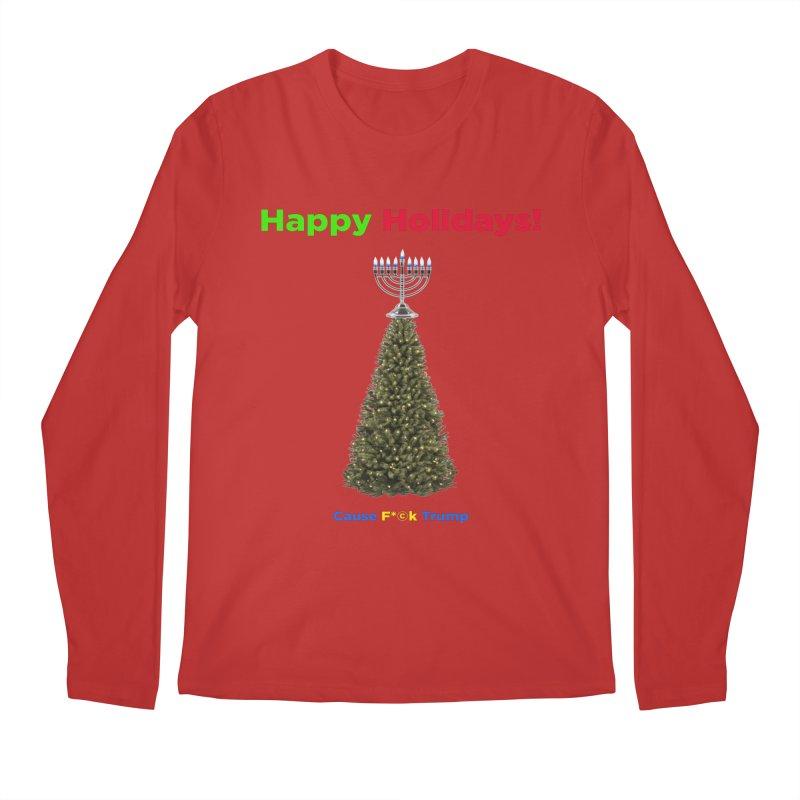 Happy Holidays! Men's Regular Longsleeve T-Shirt by Resistance Merch