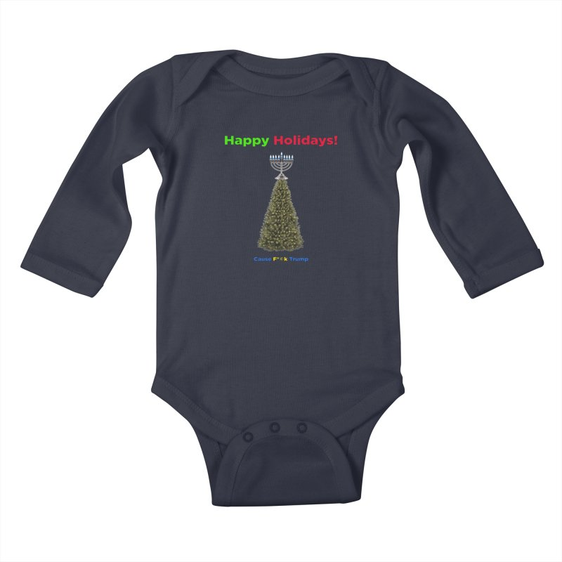 Happy Holidays! Kids Baby Longsleeve Bodysuit by Resistance Merch