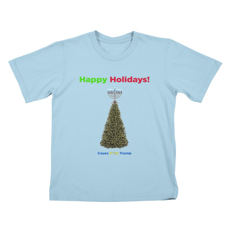 Happy Holidays! Kids T-Shirt by Resistance Merch