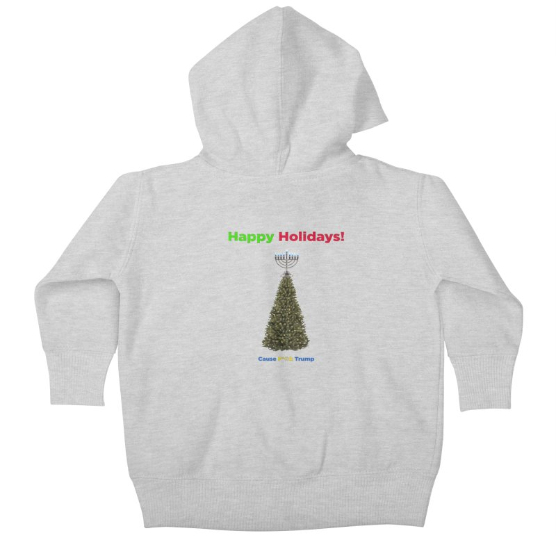 Happy Holidays! Kids Baby Zip-Up Hoody by Resistance Merch