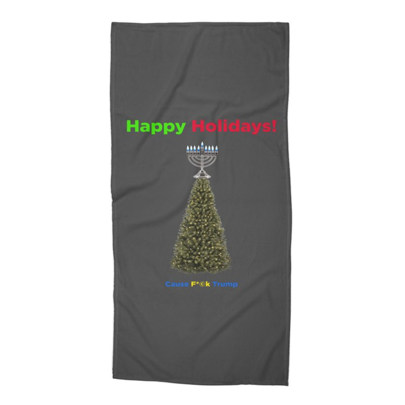 Happy Holidays! Accessories Beach Towel by Resistance Merch