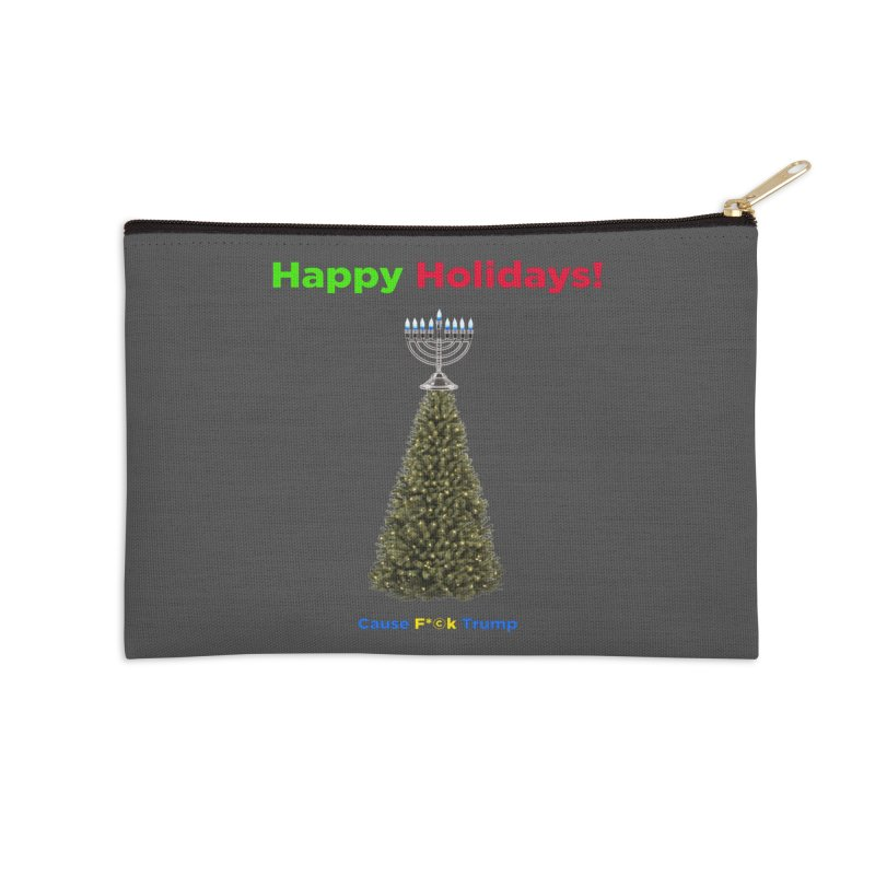 Happy Holidays! Accessories Zip Pouch by Resistance Merch