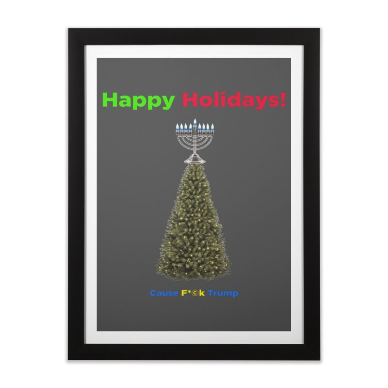 Happy Holidays! Home Framed Fine Art Print by Resistance Merch