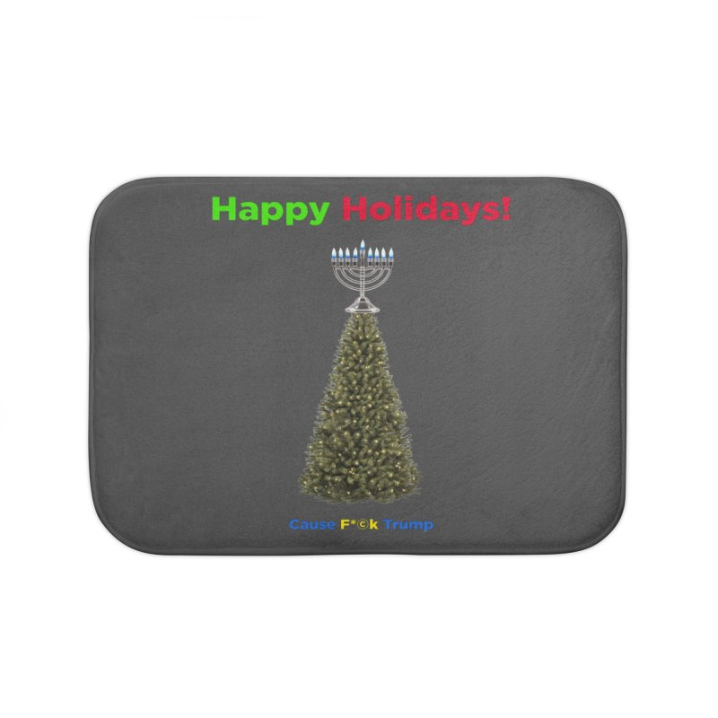 Happy Holidays! Home Bath Mat by Resistance Merch
