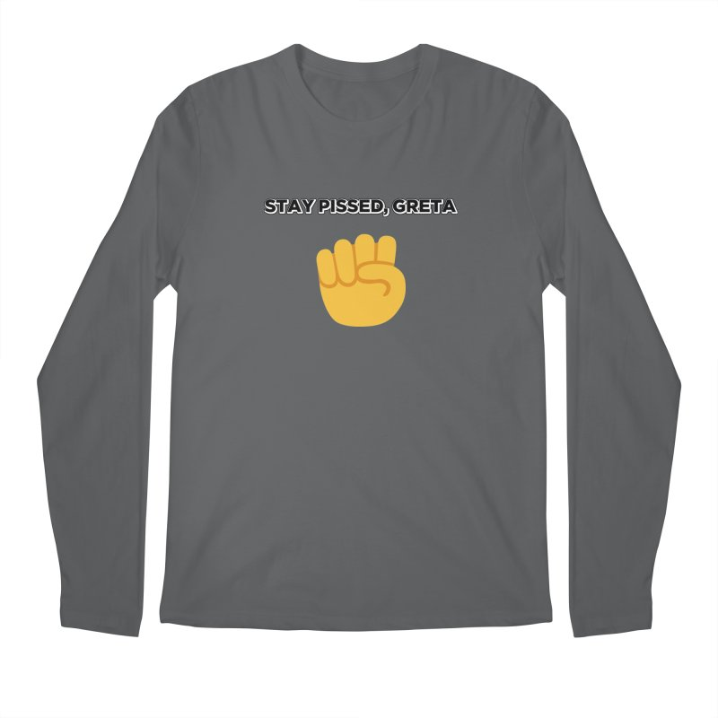 Stay Pissed, Greta Men's Regular Longsleeve T-Shirt by Resistance Merch