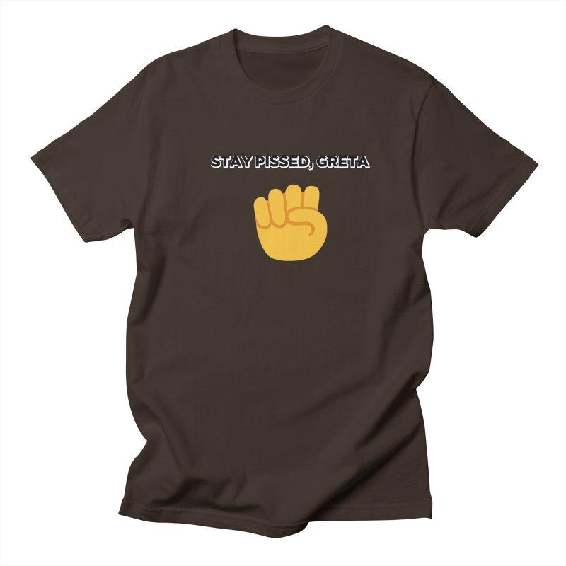 Stay Pissed, Greta Men's Regular T-Shirt by Resistance Merch