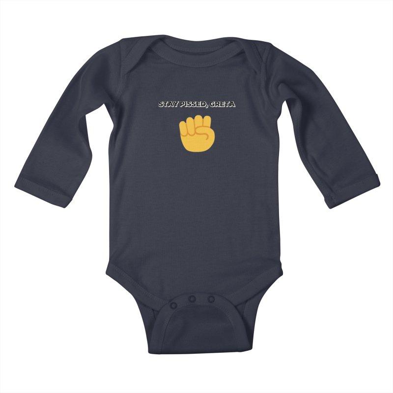 Stay Pissed, Greta Kids Baby Longsleeve Bodysuit by Resistance Merch