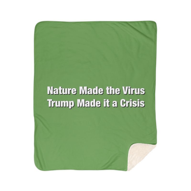 The Virus Crisis Home Blanket by Resistance Merch