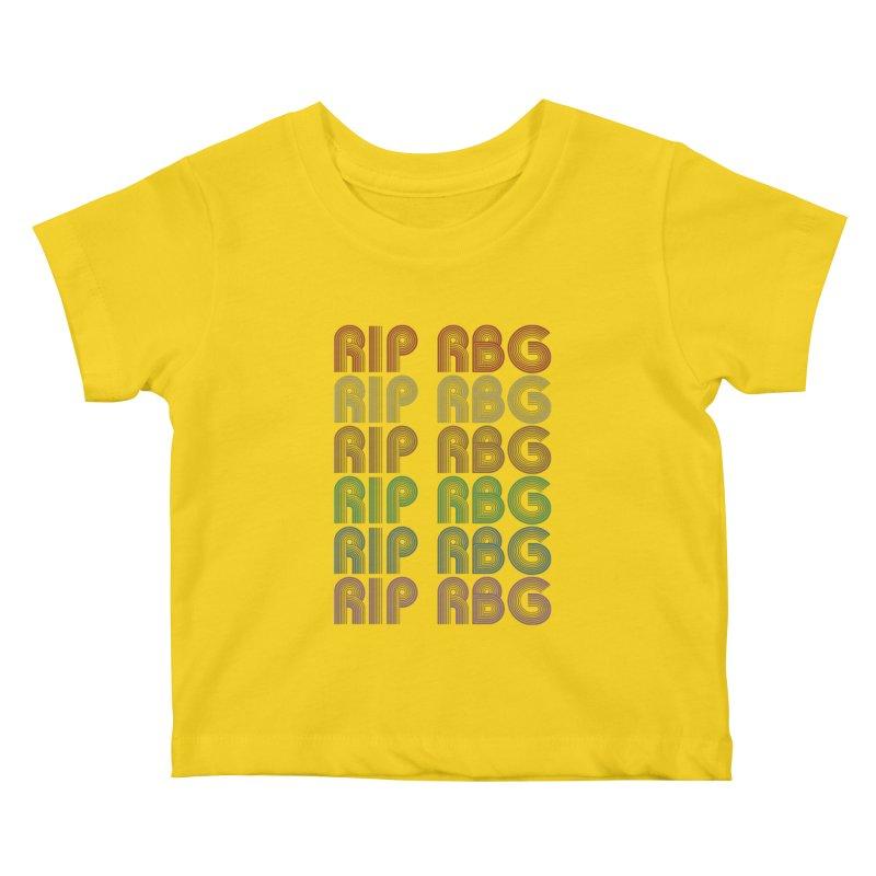 RIP RBG Kids Baby T-Shirt by Resistance Merch