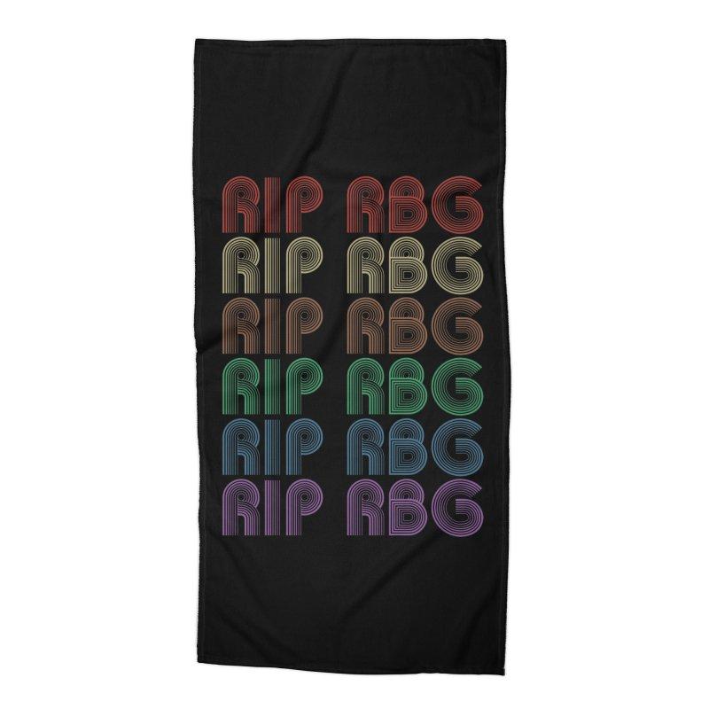 RIP RBG Accessories Beach Towel by Resistance Merch