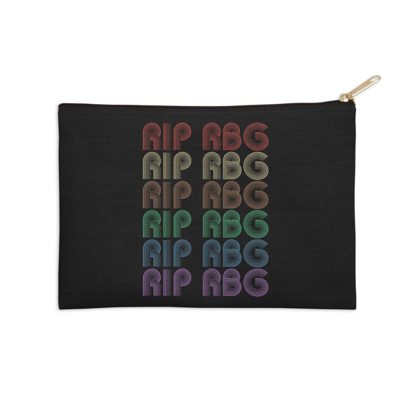 RIP RBG Accessories Zip Pouch by Resistance Merch