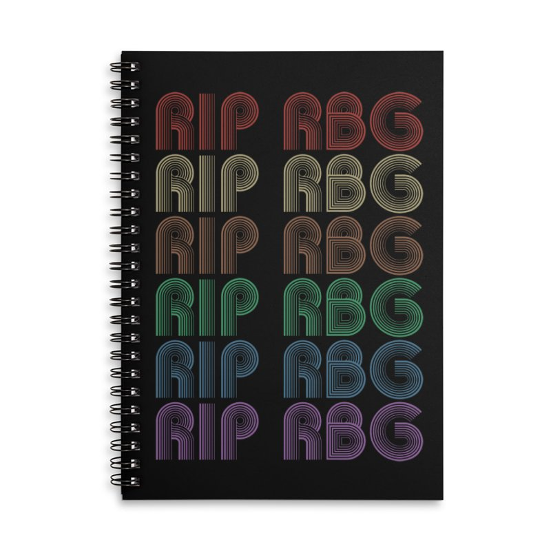 RIP RBG Accessories Notebook by Resistance Merch