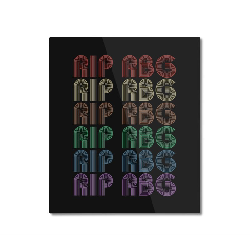 RIP RBG Home Mounted Aluminum Print by Resistance Merch