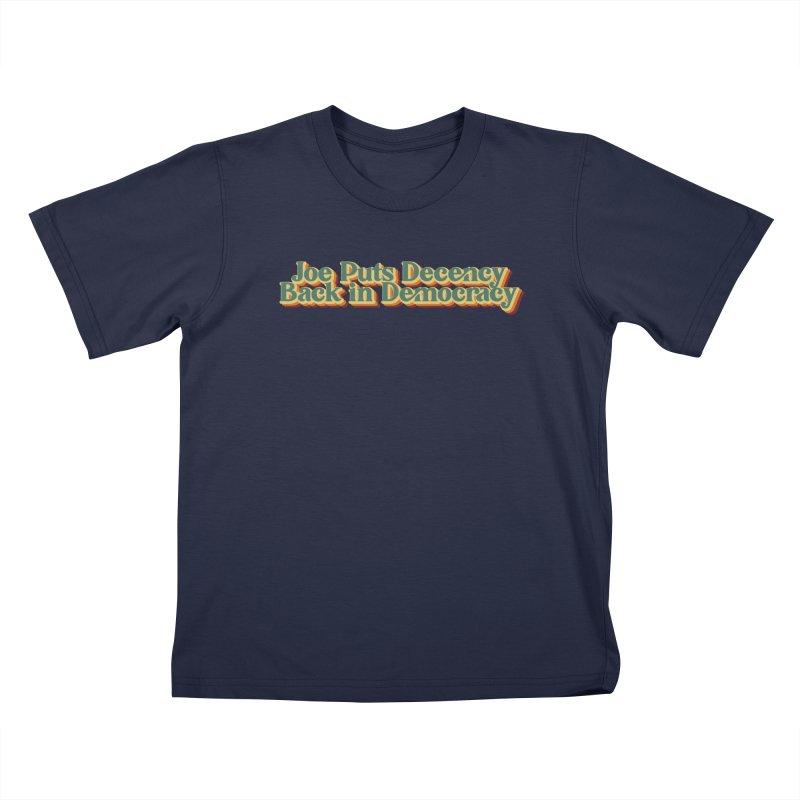 A Decent Democracy Kids T-Shirt by Resistance Merch