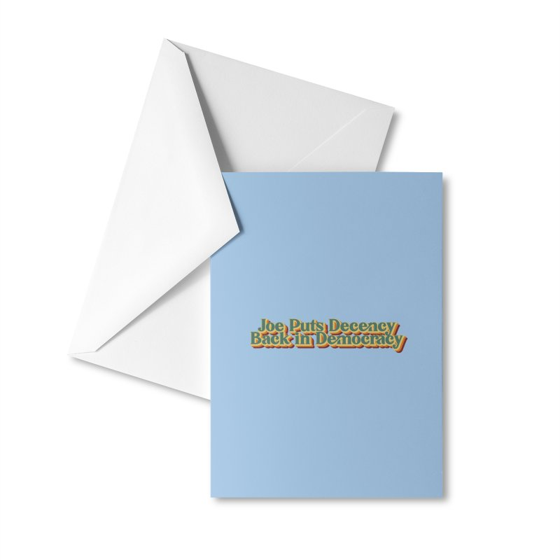 A Decent Democracy Accessories Greeting Card by Resistance Merch