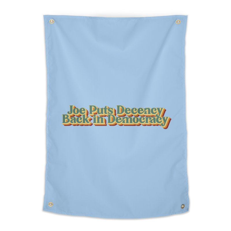 A Decent Democracy Home Tapestry by Resistance Merch