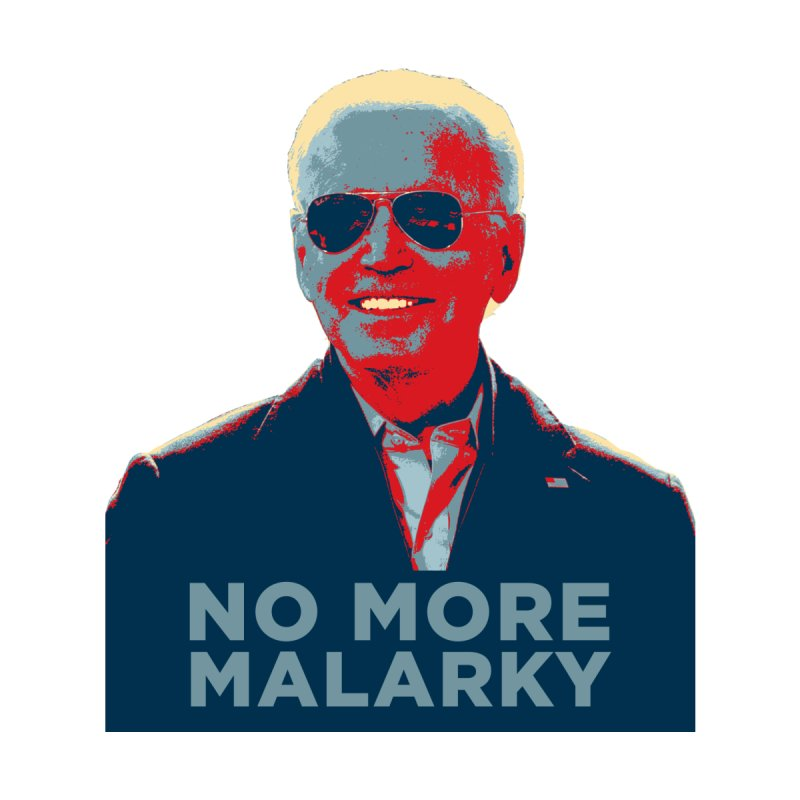 No More Malarky Home Fine Art Print by Resistance Merch