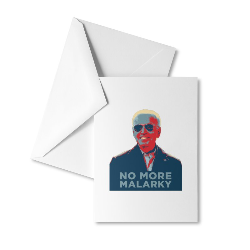 No More Malarky Accessories Greeting Card by Resistance Merch