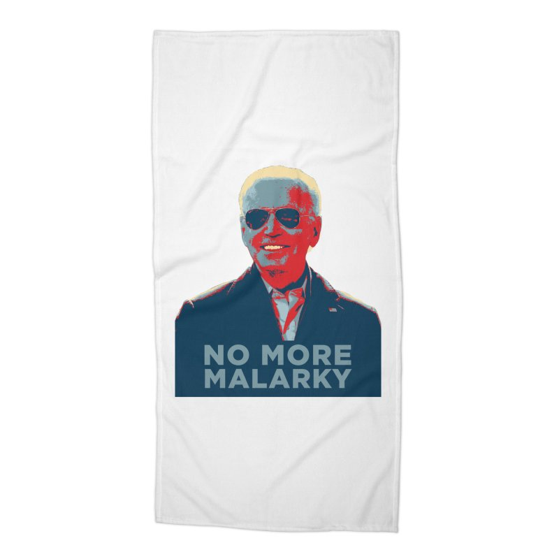 No More Malarky Accessories Beach Towel by Resistance Merch